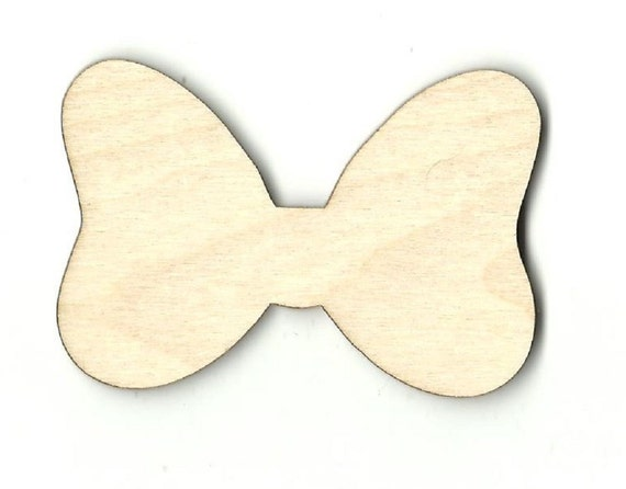 41e66b9078e minnie mouse bow laser cut out unfinished wood shape craft etsy .