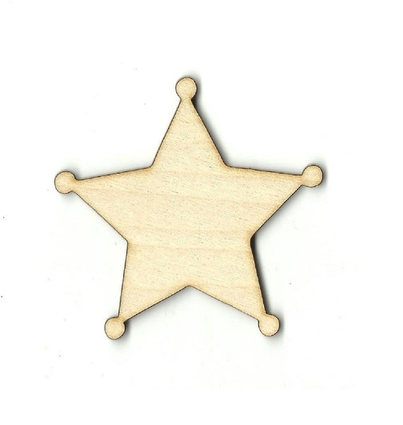 Accessories Sheriff Badge Wood Cutout Shape A