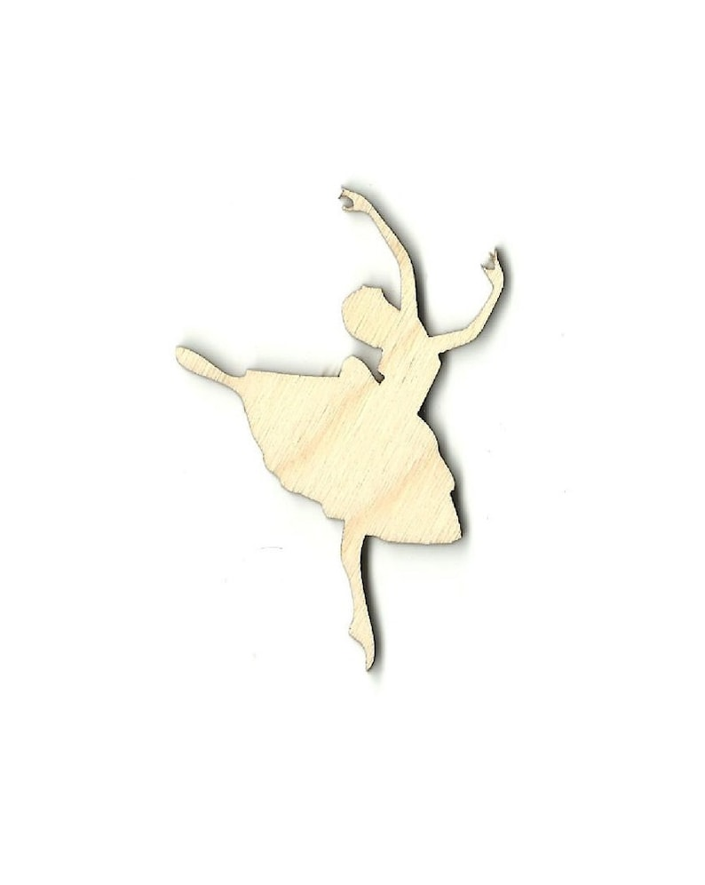 Laser Cut Out Unfinished Wood Shape Craft Supply SPT17 Dancer
