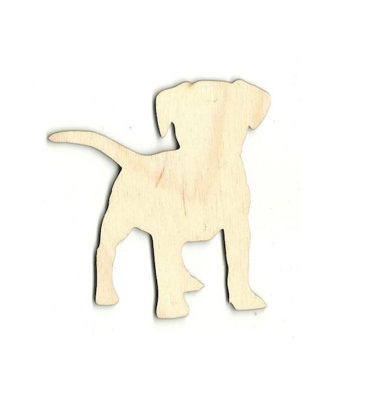 Shih Tzu Dog Wooden Wood Cutout Shape Silhouette Tags Ornaments Laser Cut #1325