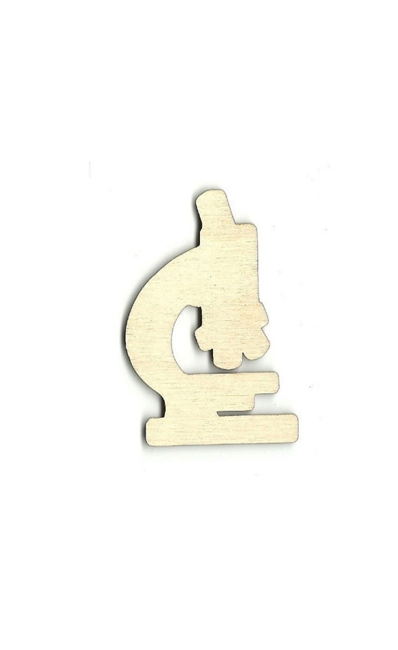 Microscope Laser Cut Out Unfinished Wood Shape Craft Supply SNC6