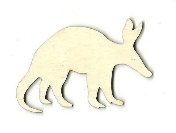 Laser Cut Out Unfinished Engraved Wood Shape Craft Supply ANML39 Anteater Aardvark