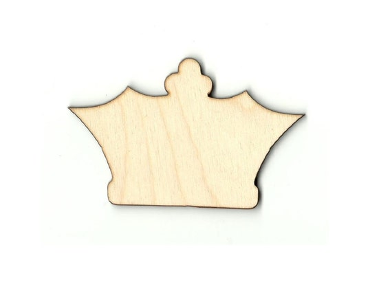 Crown Laser Cut Out Unfinished Wood Shape Craft Supply