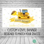 Construction Birthday Banner, Construction Party Decor, Construction Birthday Party, Construction Party Decorations, Excavator birthday, Boy