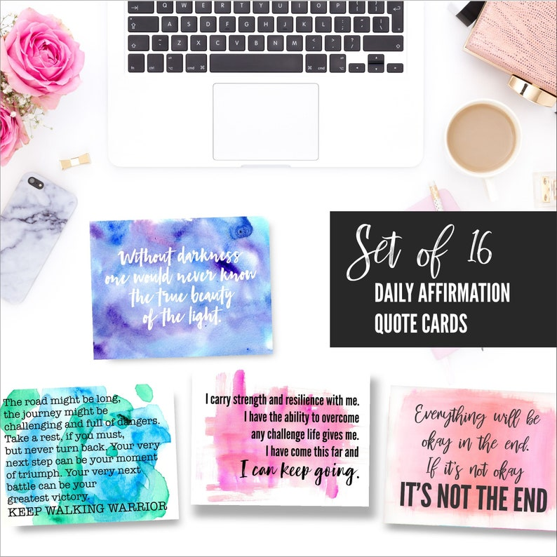 Motivational Quote Cards Inspirational Quotes Affirmation