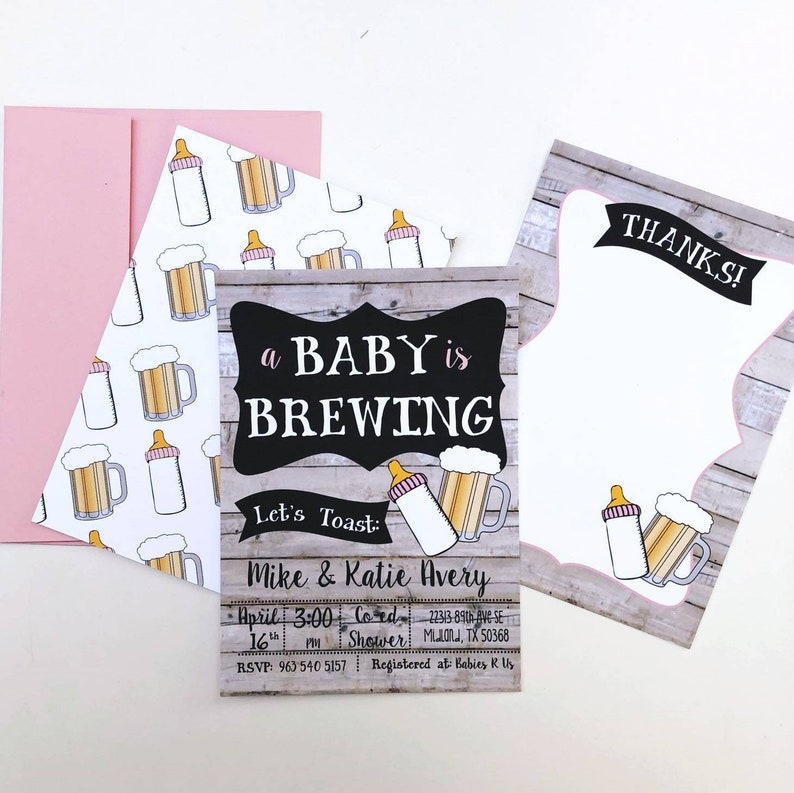 A Baby is Brewing Invitation, Beer Baby Shower Invitation, Beer Baby  Shower, co ed baby shower invitation, co ed baby shower invite, baby