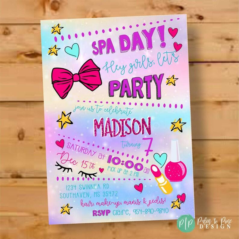 b830e44fe4c44 Girls Birthday Party Invitations Jojo siwa birthday invite | Etsy