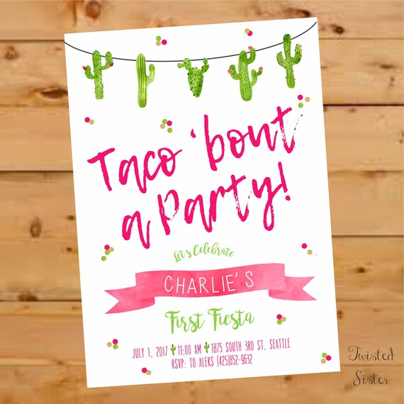 Taco Bout A Party Invitation Taco Bout A Party Invite