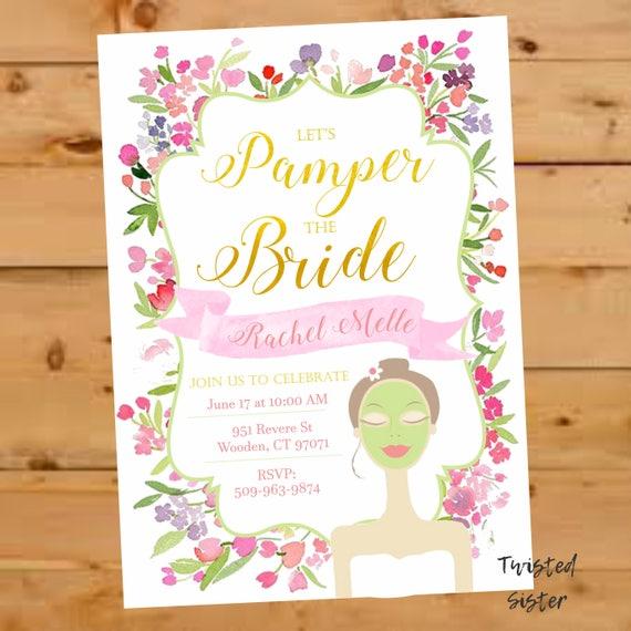 Spa Invitation Bridal Shower Invite