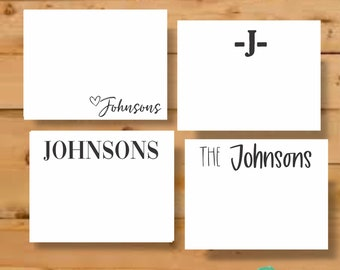 Personalized Stationary, Stationery Cards, Last Name Stationery, Teacher Gift, Stationary Personalized, Stationery Set, Personalized Cards