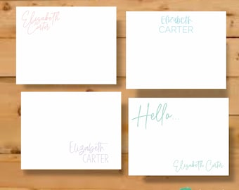 Stationary Set, Personalized Cards, Personalized Note Card, Personalized Stationary, Stationary Cards, Teacher Gift, Stationery Personalized