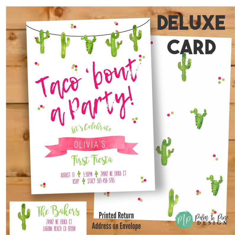 watercolor fiesta invitation Fiesta Cactus Birthday Fiesta Birthday Invitation Taco Bout a Party Invite Taco Bout a Party Invitation
