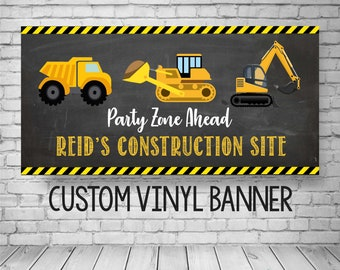 Construction Birthday Banner, Construction Party Decor, Construction Birthday Party, Construction Party Decorations, Personalized Banner