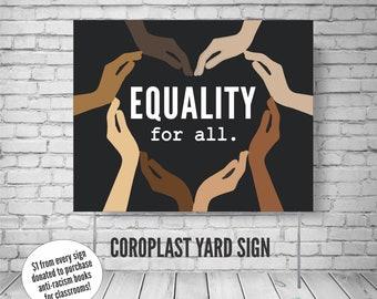 Black Lives Matter yard sign, Equality for all sign, black lifes matter sign for yard, black lifes matter, BLM yard sign, blm sign for yard
