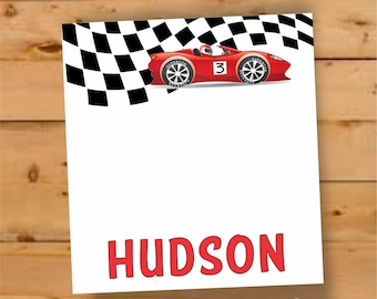 Personalized Notepad for boys, notepad for little boy, Personalized Notepad, race car gifts for boys, personalized gift for boys, race car