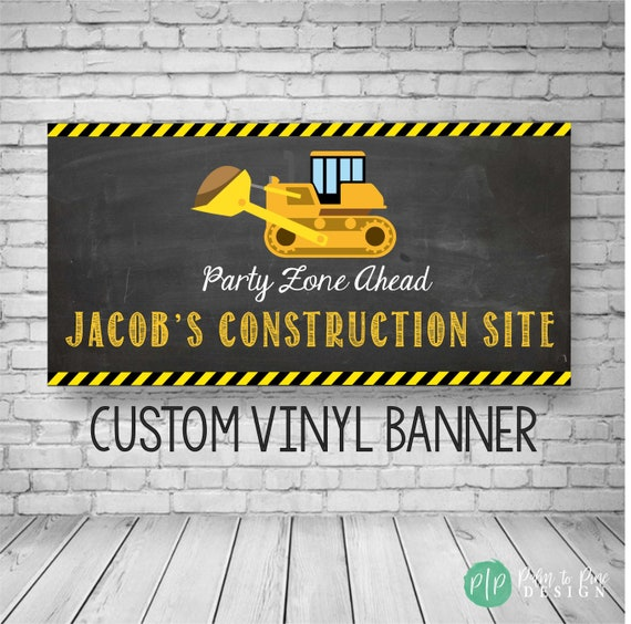 Construction Birthday Banner Party Decor