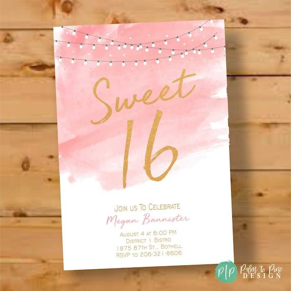 sweet sixteen birthday invitations sixteenth birthday 16th