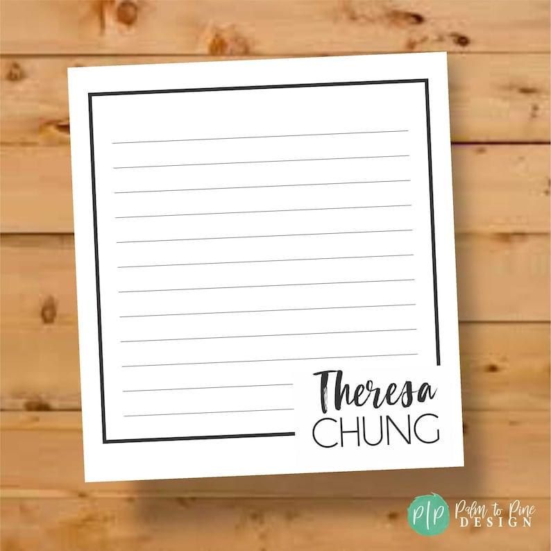 Personalized Notepad Luxury Personalized Notepad Stationary image 0