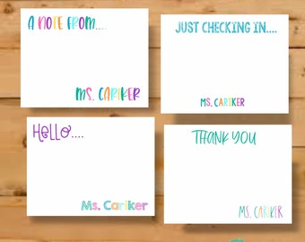 Teacher Stationery Cards, Personalized Stationery, Stationary Cards, Teacher Gift, Teacher Stationary Gift, Teacher Stationary Personalized