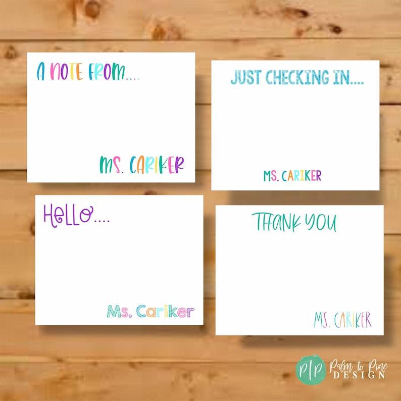 Teacher Stationery Cards Personalized Stationery Stationary image 0