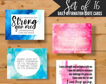 Motivational Quote Cards, Inspirational Quotes, Affirmation Cards, Positive quotes cards, gift for cancer mom, special needs mom, donation