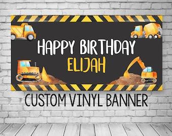 Construction Birthday Banner, Construction Banner, Construction Birthday Party, Construction Party Decorations, Birthday banner for boys