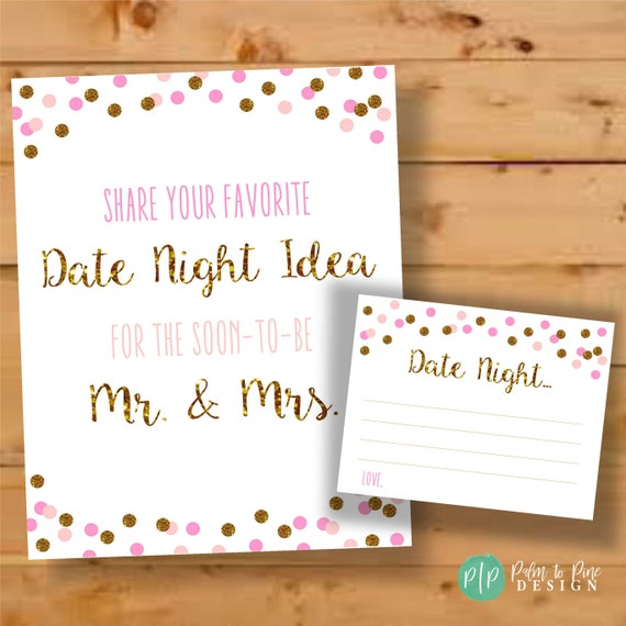 Date Night Printables Bridal Shower Date Night Ideas Date Night Jar Date Night Ideas Date Night Bridal Shower Newlywed Date Night Idea By Palm To Pine Design Catch My Party