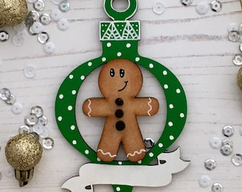 Personalised Gingerbread man - any colours, themes, styles you need