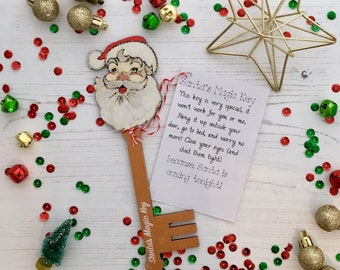 Santa's Magic Key - Santa character top with copper gold key