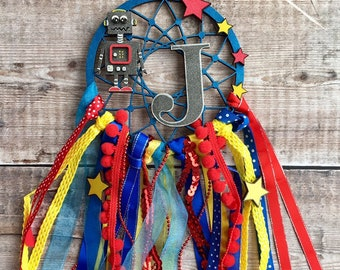 Robot personalised dream catcher in your choice of colours - 3 sizes