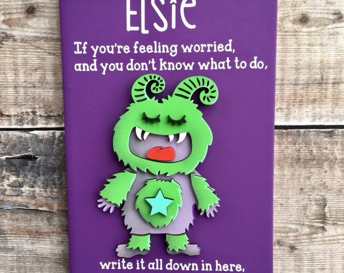 Featured listing image: Personalised worry journal - diary for kids and adults