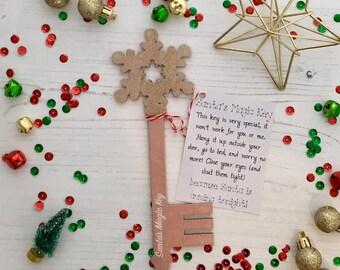 Santa's Magic Key - pink glitter
