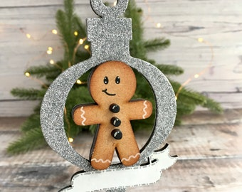 Personalised Gingerbread Person bauble - custom Christmas ornament in any colours, themes, styles you need