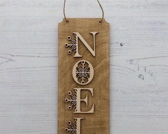 25cm high wooden NOEL sign
