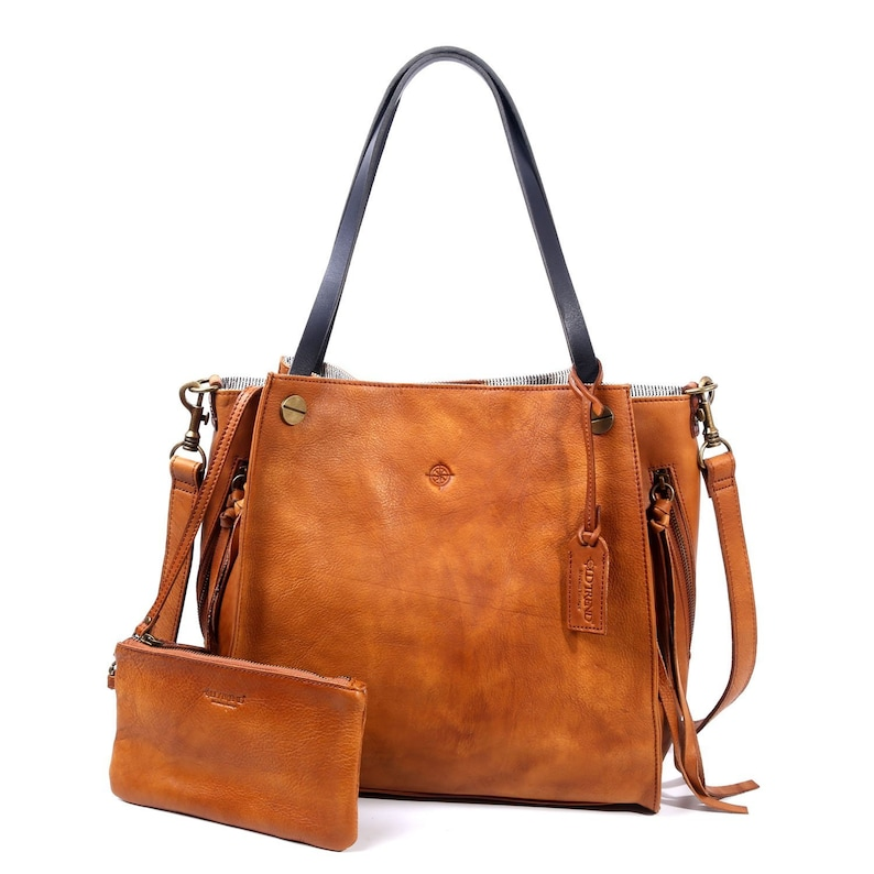 Daisy Leather Tote image 0