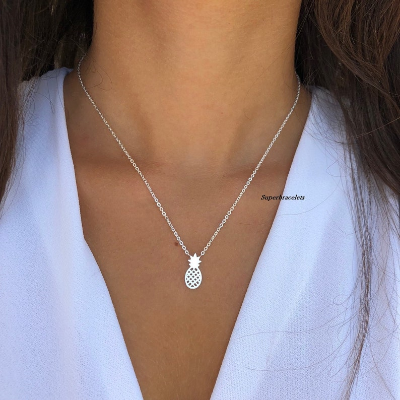 fruit necklace pineapple necklace pineapple pendant necklace pineapple minimalist jewelry pineapple necklaces minimalist necklace