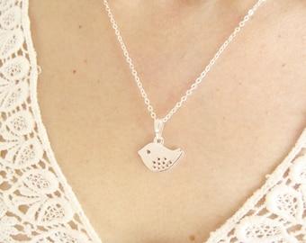 Bird Necklace, silver bird necklace, gold bird necklace, sparrow necklace, swallow Necklace, cute necklace