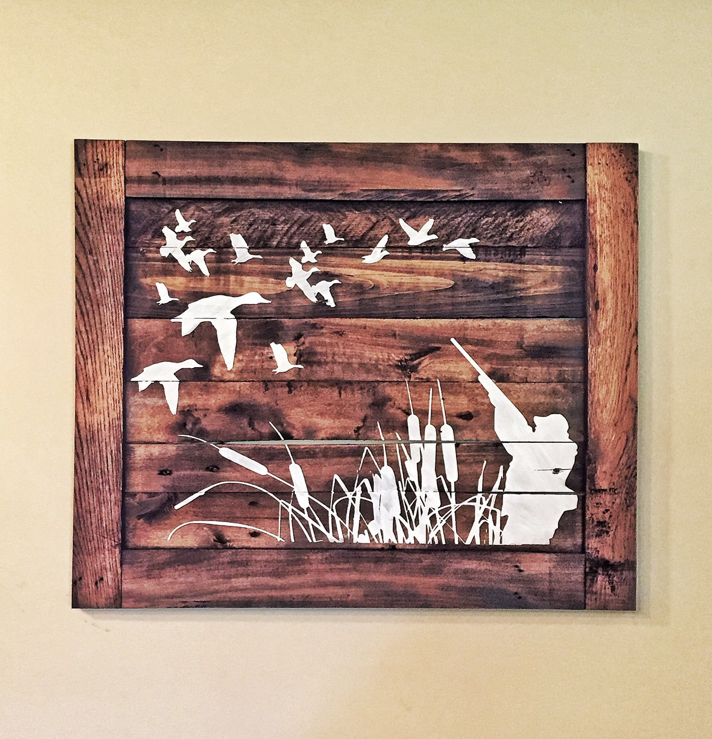 Duck Hunting Wood Sign Hunters Home Decor Etsy