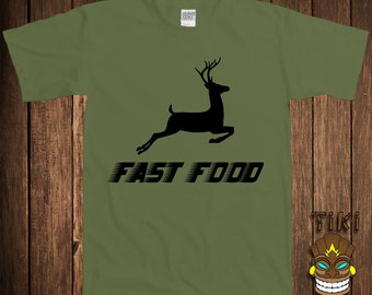 69511834 Funny Fast Food Deer Hunting Joke T-shirt Gift For Dad Father Tshirt Tee  Shirt Husband Boyfriend Beer Buck Sports Outdoors Father's Day Gift