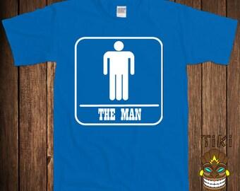 6833f9fbc Funny Gift For Boyfriend Husband T-shirt Offensive Tshirt Tee Shirt The Man  Well Hung College Humor Dirty Joke Rude Gag Cool Geek Nerd