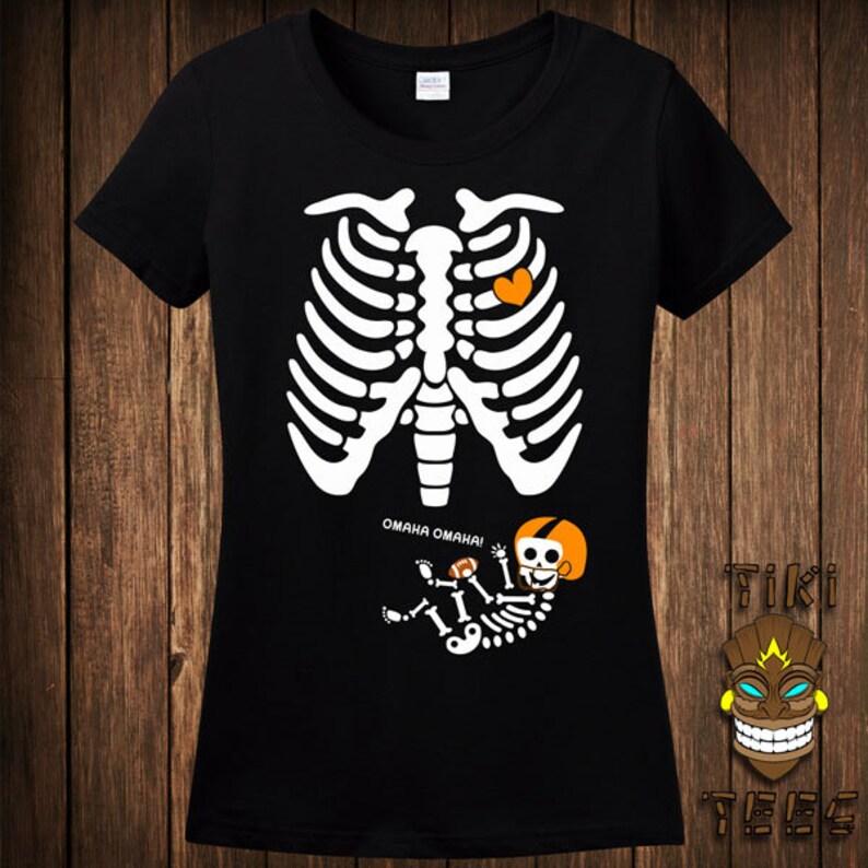837a9e90c829a Funny Pregnant Skeleton Halloween Costume T-shirt Tee Shirt | Etsy