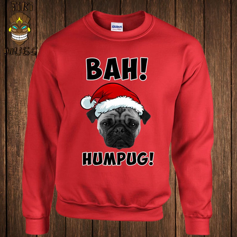 583a655144ca5 Funny Christmas Hoodie Bah Humpug Sweater Sweatshirt Holiday