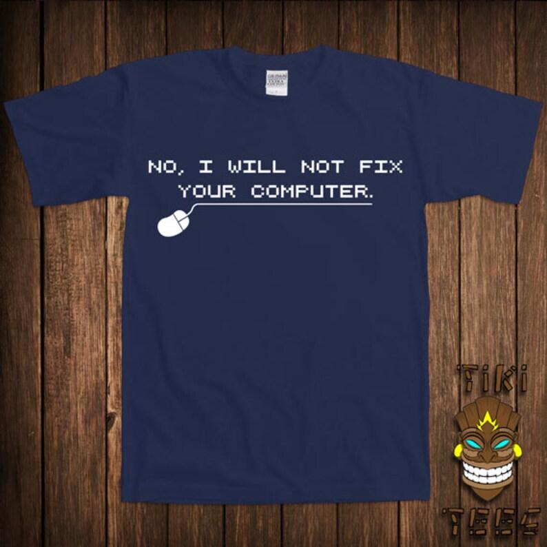 8c701843 Funny Computer Nerd T-shirt Geek Tshirt Tee Shirt Geeky Nerdy | Etsy