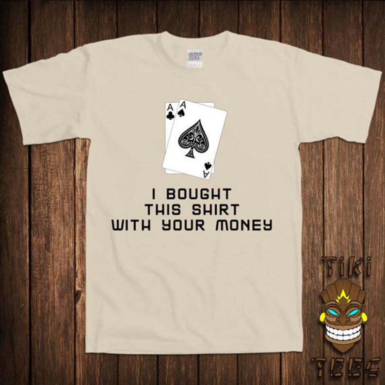 57d59e725 Funny Poker T-shirt Texas Holdem Tshirt Tee Shirt Vegas | Etsy