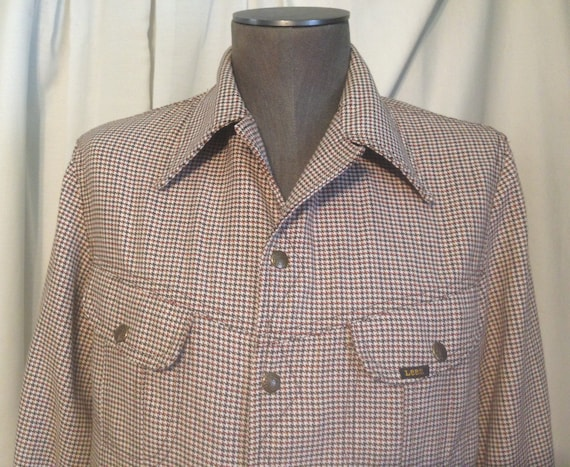Men's Vintage Lee Riders Western Gun Check Houndst