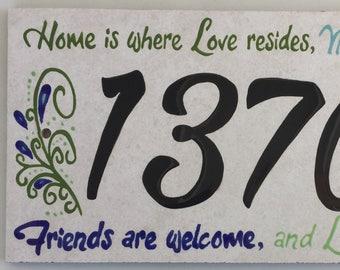 Home is Where Love Resides address tile