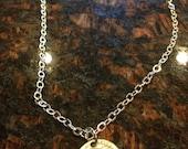 Buffalo Nickel coin necklace featuring the buffalo