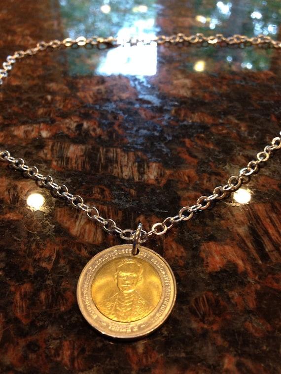 Thailand 10 Baht Münze Halskette Etsy