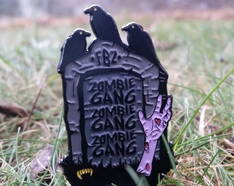 3004d257ff6 ZOMBiE GANG Headstone Hat Pin  LIMITEDEDITION  Heady Hat Pins by    Eccentric Visuals
