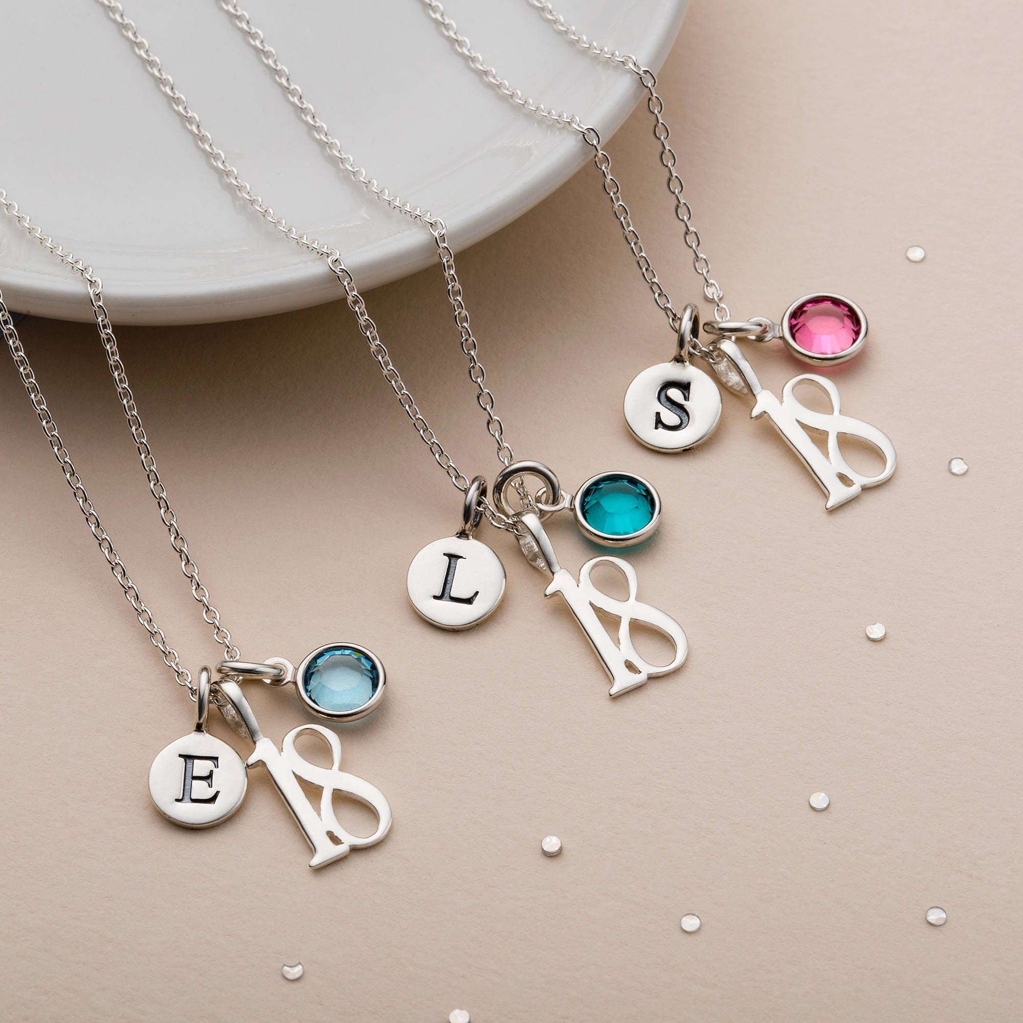 18th Birthday Necklace Birthstone Necklace Gift For